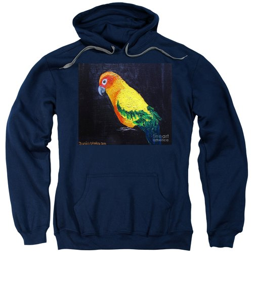 Sweatshirt featuring the painting Loki by Denise Railey