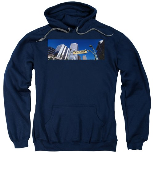 Low Angle View Of Buildings, Cite Sweatshirt