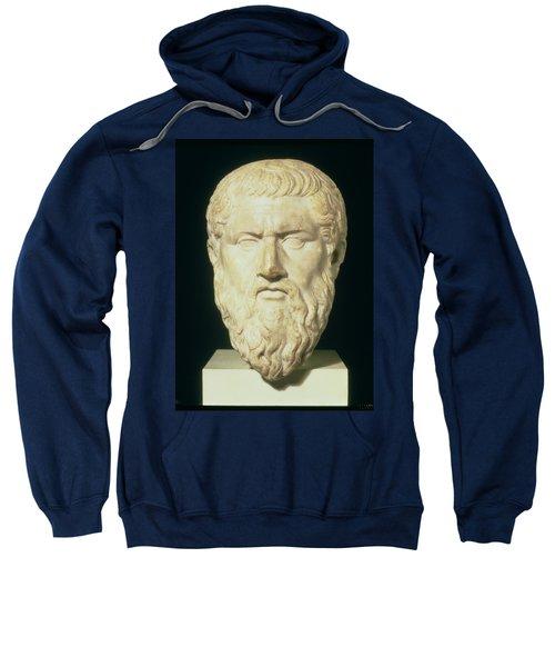 Luna Marble Head Of Plato, Roman, 1st Sweatshirt