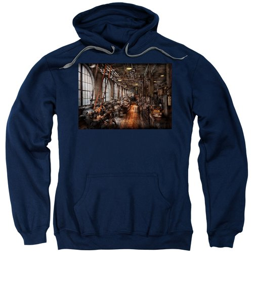 Machinist - A Fully Functioning Machine Shop  Sweatshirt