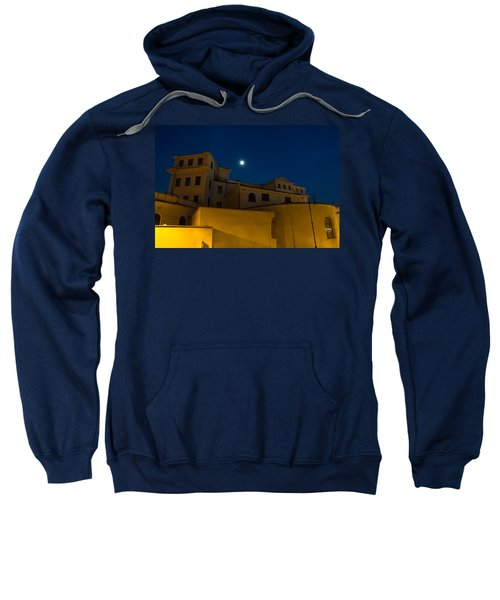 Magical Rome Italy - Yellow Facades And Moonlight Sweatshirt