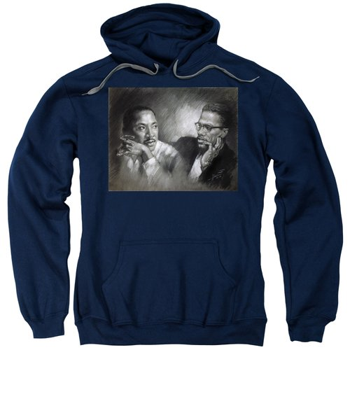 Martin Luther King Jr And Malcolm X Sweatshirt