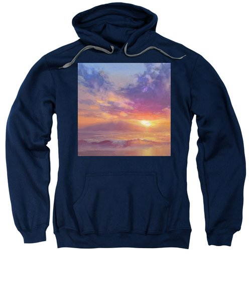 Coastal Hawaiian Beach Sunset Landscape And Ocean Seascape Sweatshirt