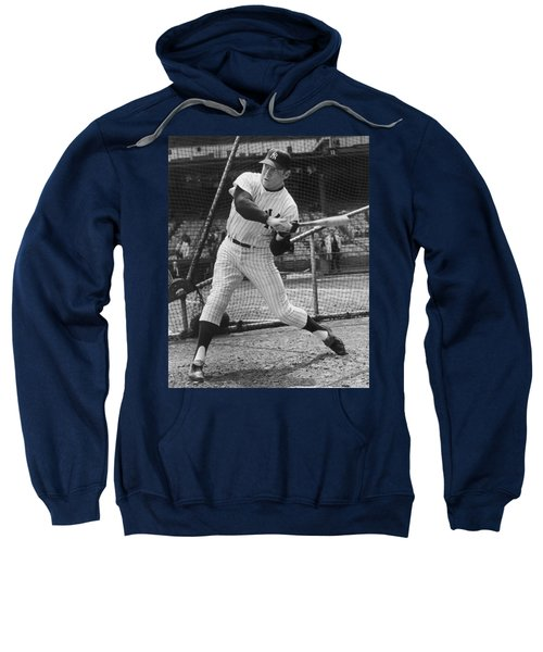 Mickey Mantle Poster Sweatshirt by Gianfranco Weiss