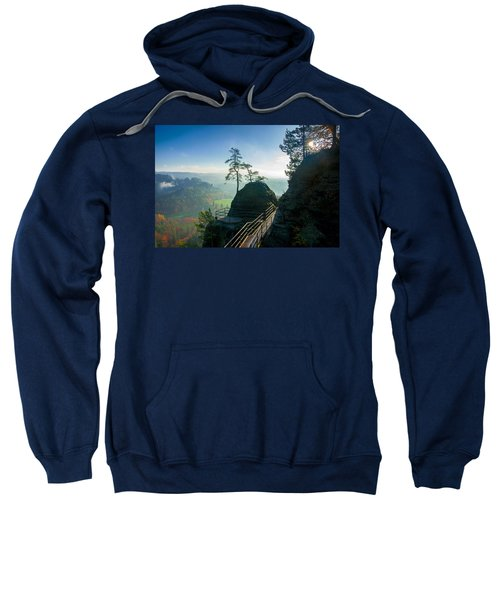 Misty Sunrise On Neurathen Castle Sweatshirt