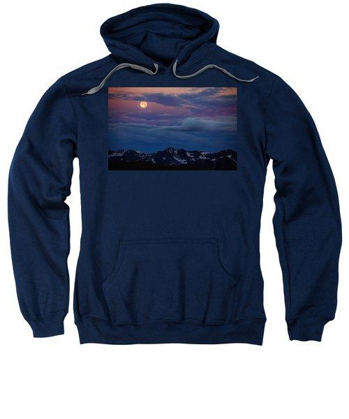 Moon Over Rockies Sweatshirt