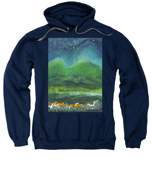 Mountains At Night Sweatshirt
