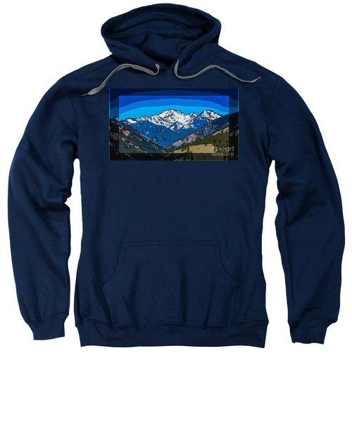 Mt Gardner In The Spring Abstract Painting  Sweatshirt