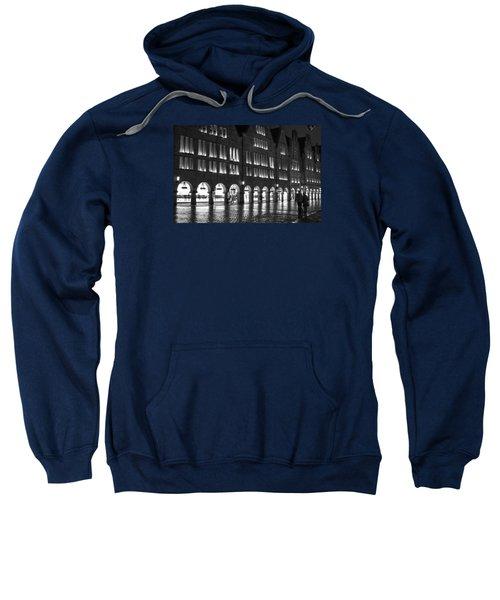 Cobblestone Night Walk In The Town Sweatshirt