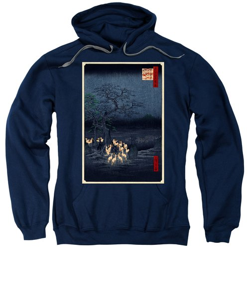 New Years Eve Foxfires At The Changing Tree Sweatshirt