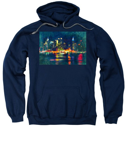 New York State Of Mind Abstract Realism Sweatshirt