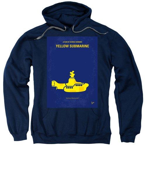 No257 My Yellow Submarine Minimal Movie Poster Sweatshirt