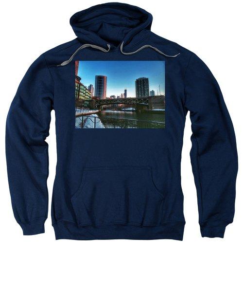 Ohio Street Bridge Over Chicago River Sweatshirt