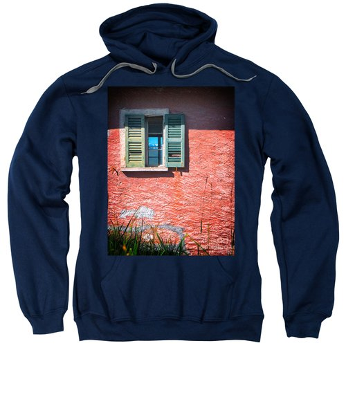 Sweatshirt featuring the photograph Old Window With Reflection by Silvia Ganora