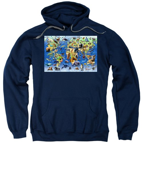 One Hundred Endangered Species Sweatshirt by Adrian Chesterman