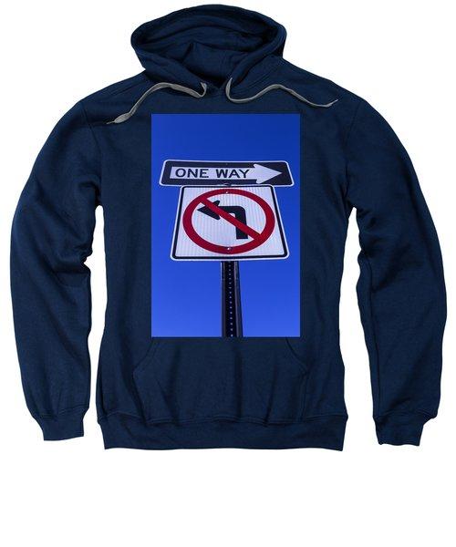 One Way Sign Sweatshirt