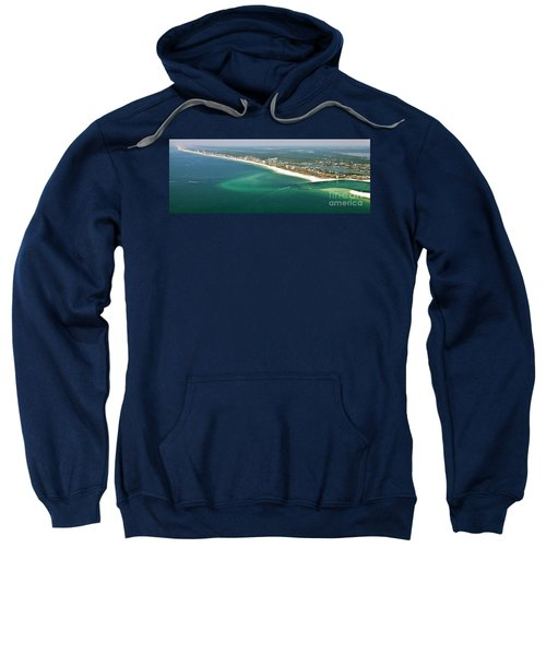 Looking N W Across Perdio Pass To Gulf Shores Sweatshirt