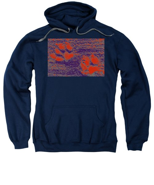 Paw Prints In Red And Purple Sweatshirt