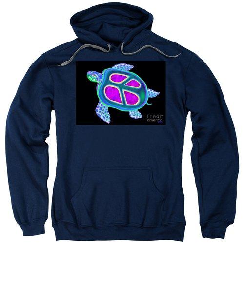 Peace Sea Turtle Too Sweatshirt