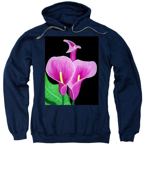 Pink Calla Lillies 2 Sweatshirt