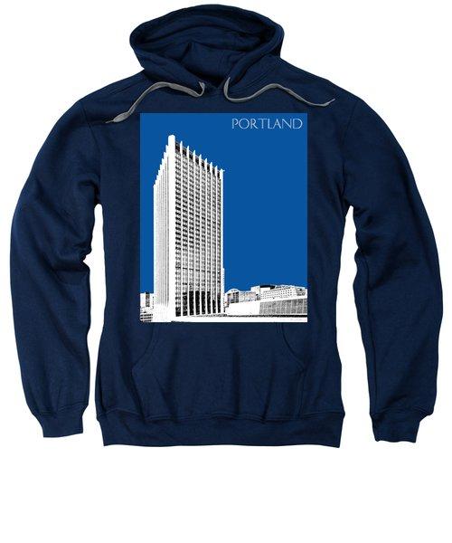 Portland Skyline Wells Fargo Building - Royal Blue Sweatshirt