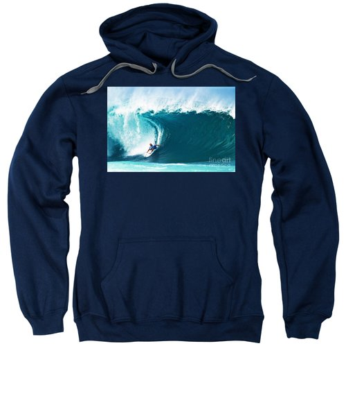 Pro Surfer Kelly Slater Surfing In The Pipeline Masters Contest Sweatshirt