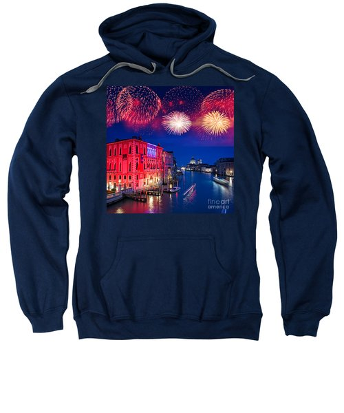 Red Fireworks In Venice Sweatshirt