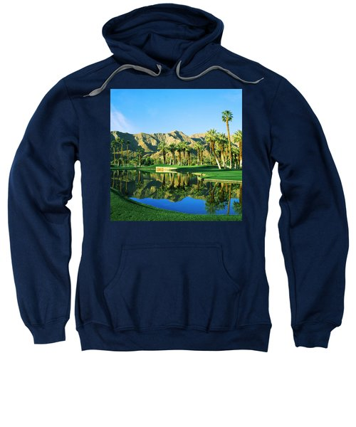 Reflection Of Trees On Water In A Golf Sweatshirt