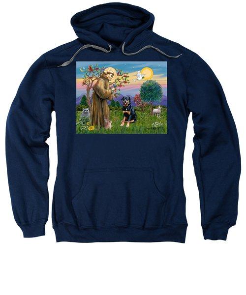 Saint Francis Blesses A Rottweiler Sweatshirt