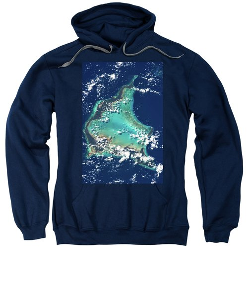 Satellite View Of Turks And Caicos Sweatshirt