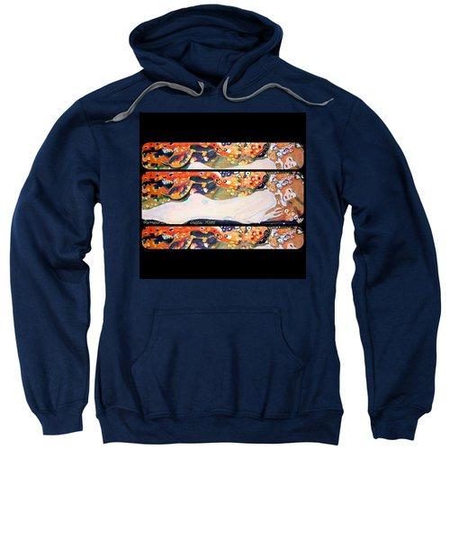 Sea Serpent IIi Tryptic After Gustav Klimt Sweatshirt by Anna Porter