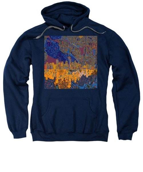Seattle Skyline Abstract 4 Sweatshirt