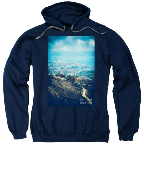 Sweatshirt featuring the photograph Sicilian Land After Fire by Silvia Ganora