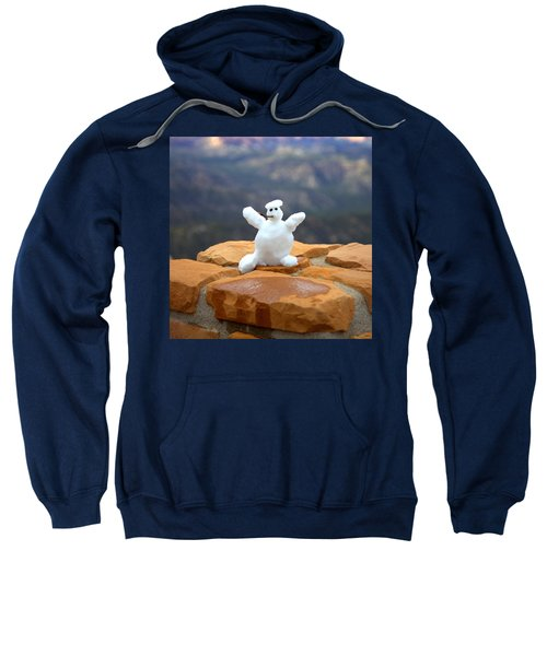 Snowman At Bryce - Square Sweatshirt