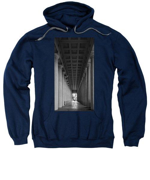 Soldier Field Colonnade Chicago B W B W Sweatshirt by Steve Gadomski