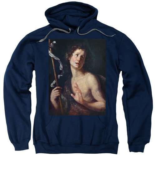 St. John The Baptist Oil On Canvas Sweatshirt