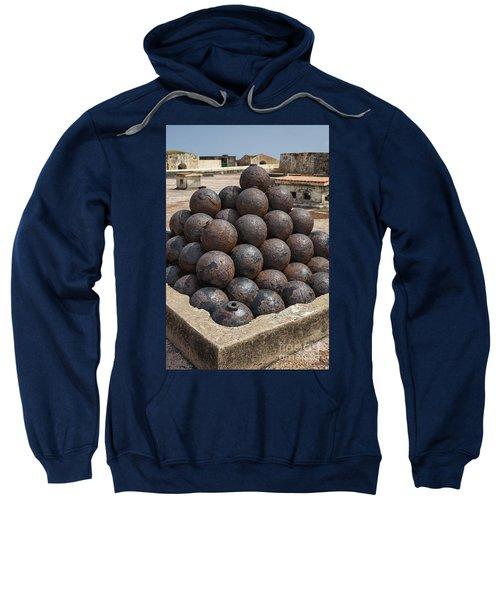 Stack Of Cannon Balls At Castillo San Felipe Del Morro Sweatshirt
