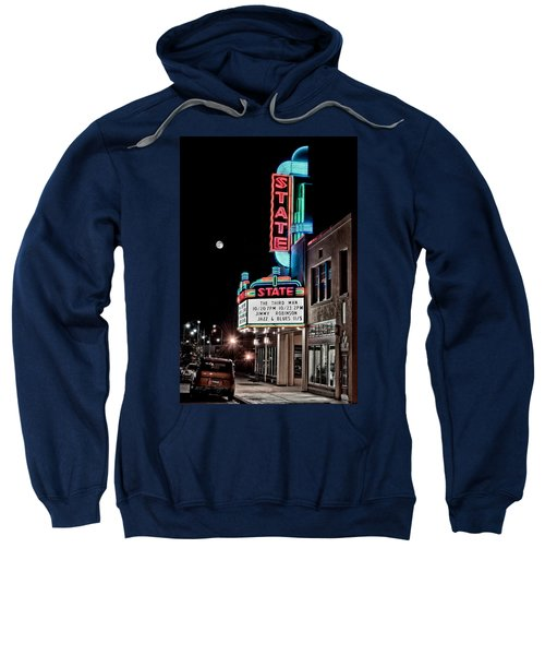 Sweatshirt featuring the photograph State Theater by Jim Thompson