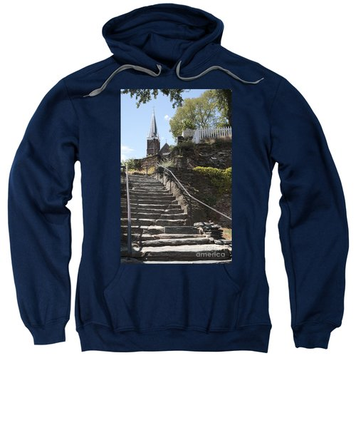 Stone Steps And Saint Peters Church At Harpers Ferry Sweatshirt