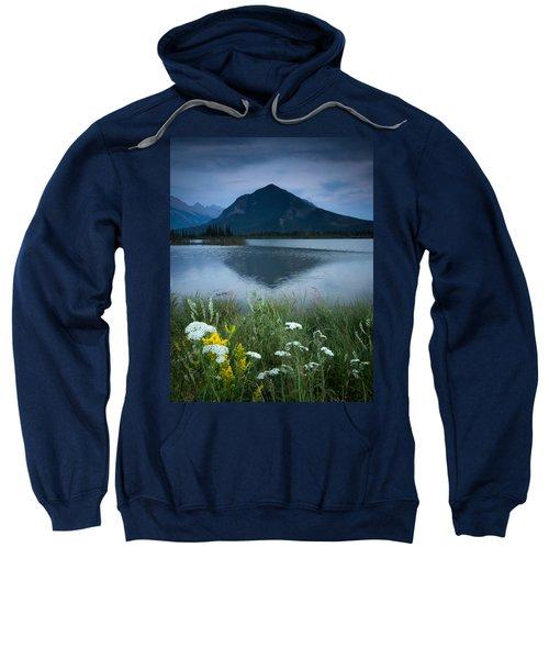 Sulphur Mountain And Wildflowers Sweatshirt