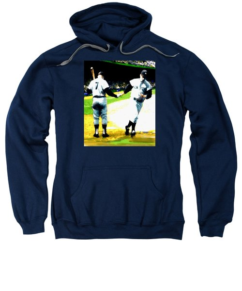 Summer Of The Gods  Iv 1961 Mickey Mantle Sweatshirt by Iconic Images Art Gallery David Pucciarelli