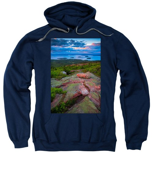 Sunset At Cadillac Mountain Sweatshirt