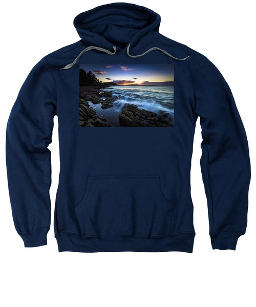 Sunset On Ber Beach Galicia Spain Sweatshirt