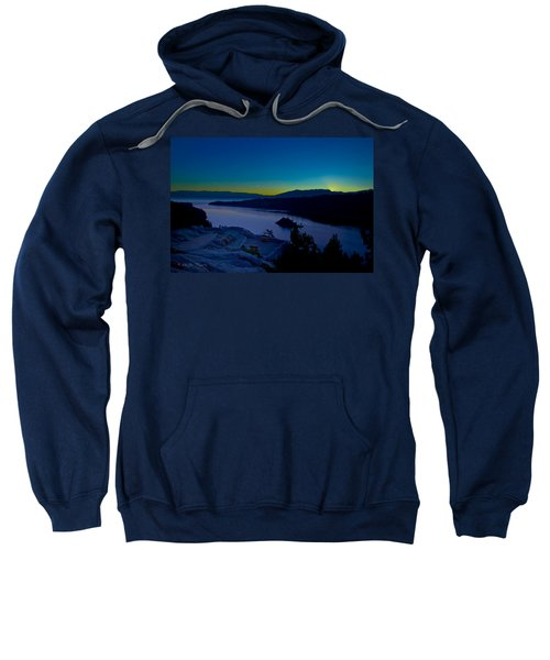 Sweatshirt featuring the photograph Tahoe Sunrise by Jim Thompson