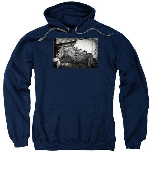 Tcu Horned Frog Bw Sweatshirt