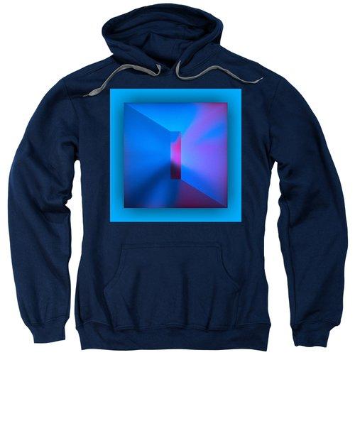 Sweatshirt featuring the digital art The Focus - Blue by Mihaela Stancu