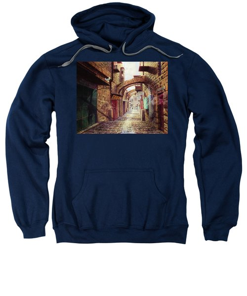 The Road To The Cross  Jerusalem Sweatshirt