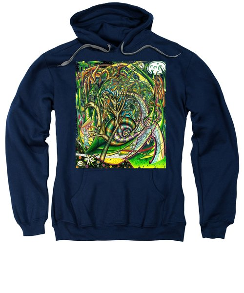 Sweatshirt featuring the painting The Snail by Shawn Dall