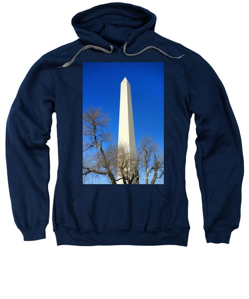 The Washington Monument And The Big Old Tree On The National Mall Sweatshirt