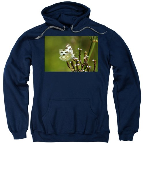 Sweatshirt featuring the photograph The Western White by Kim Pate